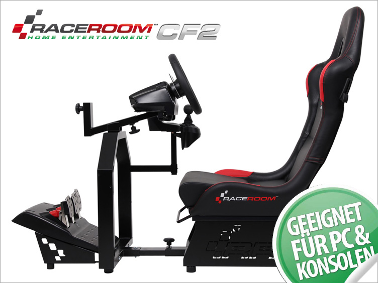 game seat cf2 raceroom home simulator set mit logitech g27. Black Bedroom Furniture Sets. Home Design Ideas