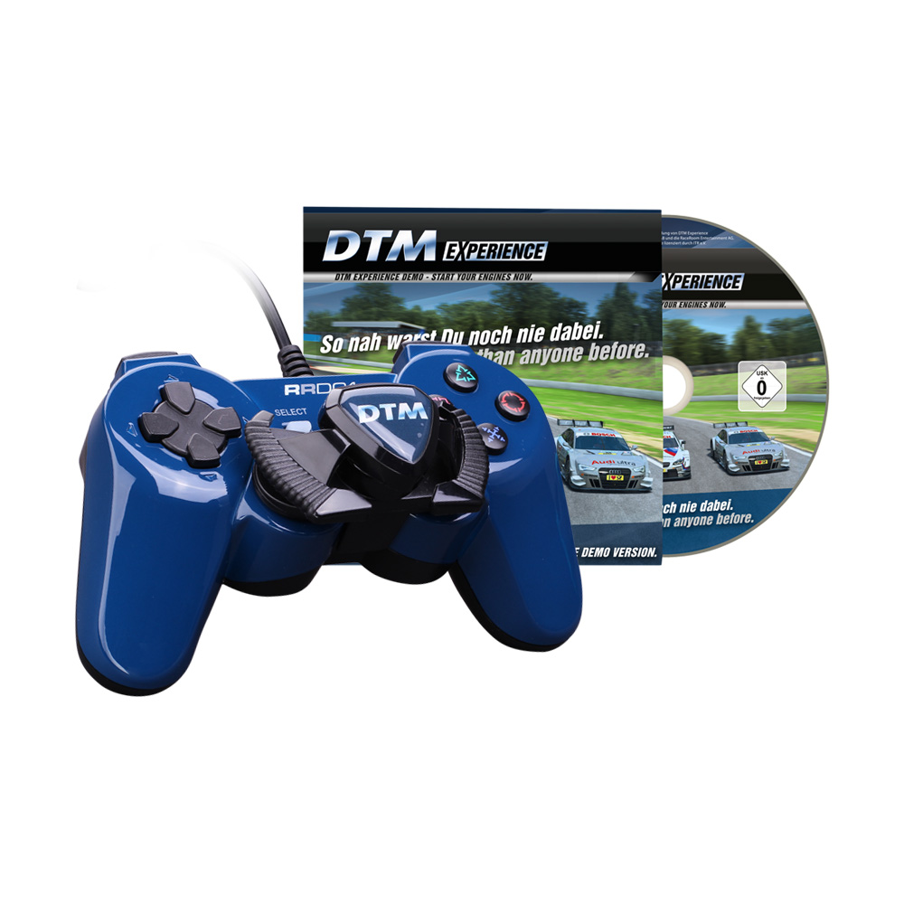 dtm game controller mit lenkrad demo spiel pc usb f r. Black Bedroom Furniture Sets. Home Design Ideas